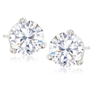 5.03 ct. t.w. Diamond Stud Earrings in 14kt White Gold, , default
