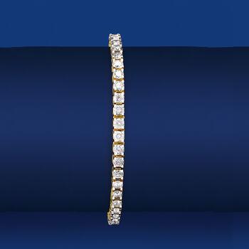 7.00 ct. t.w. Diamond Tennis Bracelet in 14kt Yellow Gold, , default