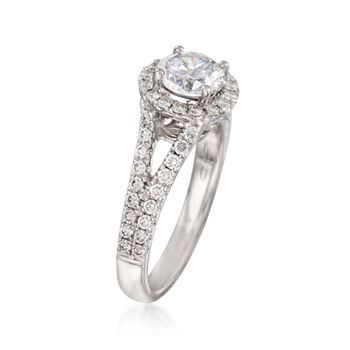 .58 ct. t.w. Diamond Engagement Ring Setting in 14kt White Gold, , default