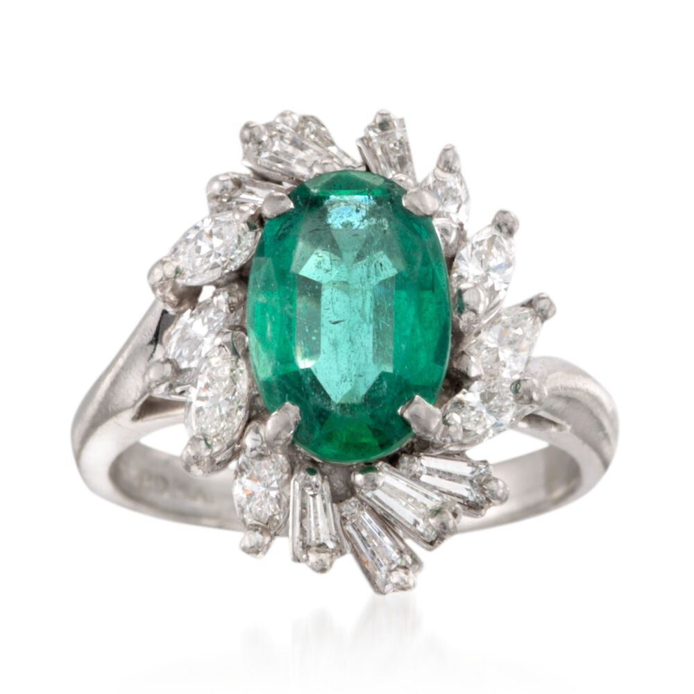 Ross Simons Estate Emerald Ring