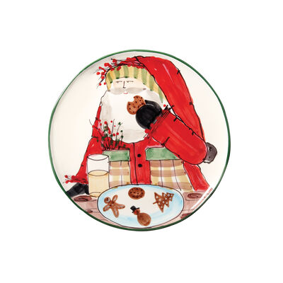 """Vietri """"Old St. Nick"""" Cookie Plate from Italy"""