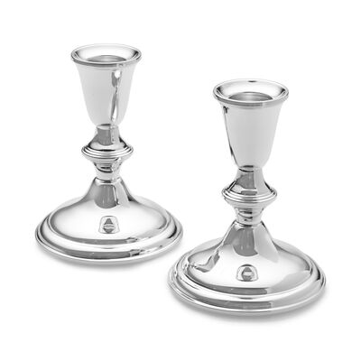 Empire Set of 2 Sterling Silver Candlestick Holders, , default