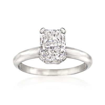 1.74 Carat Certified Diamond Solitaire Engagement Ring in 14kt White Gold