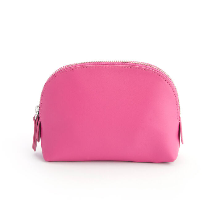Royce Bright Pink Leather Cosmetic Case
