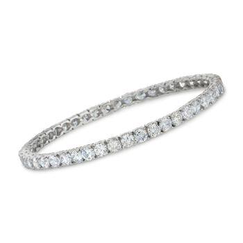 34.50 ct. t.w. CZ Bangle Bracelet in Sterling Silver, , default