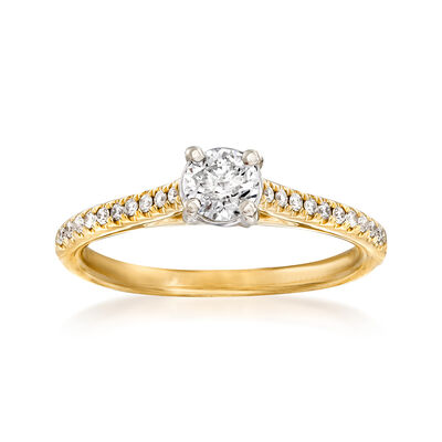 .53 ct. t.w. Diamond Engagement Ring in 14kt Yellow Gold, , default