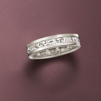 2.30 ct. t.w. Princess-Cut CZ Eternity Band in Sterling Silver, , default
