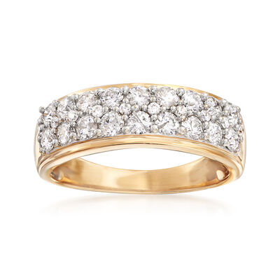 1.00 ct. t.w. Diamond Multi-Row Band Ring in 14kt Yellow Gold, , default
