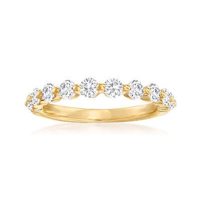 Henri Daussi .70 ct. t.w. Diamond Wedding Ring in 14kt Yellow Gold