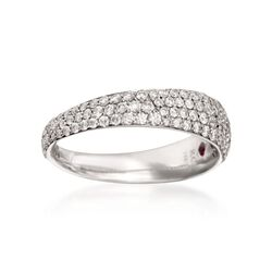 Roberto Coin .67 ct. t.w. Tapered Diamond Ring in 18kt White Gold. Size 7, , default