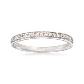 Gabriel Designs .20 ct. t.w. Diamond Wedding Ring in 14kt White Gold, , default