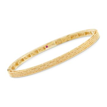 "Roberto Coin ""Symphony"" Barocco Bangle Bracelet in 18kt Yellow Gold. 7"", , default"