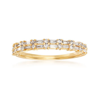 .30ct t.w. Round, Rectangular Baguette Diamond Ring in Gold