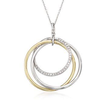 Simon G. .14ct t.w. Diamond Intertwining Circle Pendant Necklace