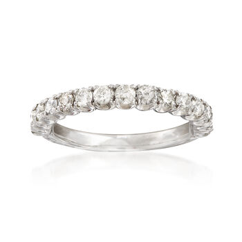 C. 1990 Vintage .75 ct. t.w. Diamond Wedding Band in 14kt White Gold