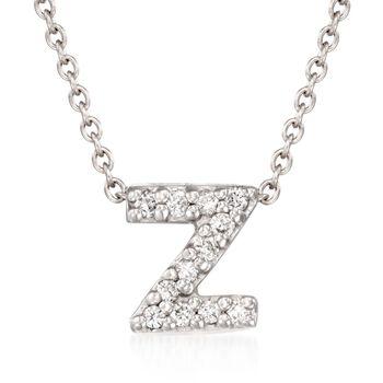 Roberto Coin Tiny Treasures Diamond Accent Initial Z Necklace