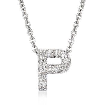 Roberto Coin Tiny Treasures Diamond Accent Initial P Necklace