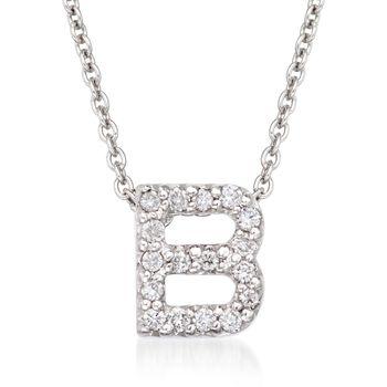 Roberto Coin Tiny Treasures Diamond Accent Initial B Necklace