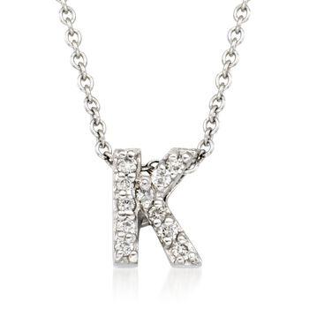 Roberto Coin Tiny Treasures Diamond Accent Initial K Necklace