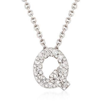 Roberto Coin Tiny Treasures Diamond Accent Initial Q Necklace
