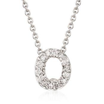 Roberto Coin Tiny Treasures Diamond Accent Initial O Necklace