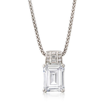 5.75 ct. t.w. CZ Pendant Necklace in Sterling Silver