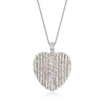 1.50 ct. t.w. Diamond Heart Pendant Necklace in Sterling Silver