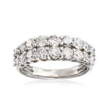 2.00 ct. t.w. Diamond Double-Row Ring in Platinum