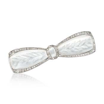 C. 1950 Vintage .40 ct. t.w. Bow Pin in Platinum