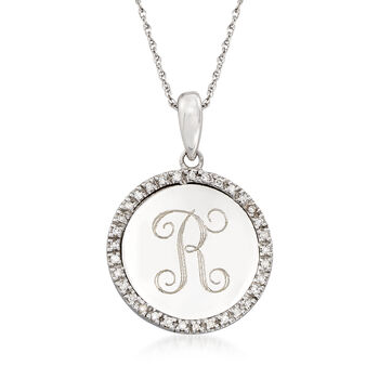 .10 ct. t.w. Diamond Personalized Pendant Necklace in 14kt White Gold