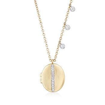 .13 ct. t.w. Diamond Oval Locket in 14kt Yellow Gold