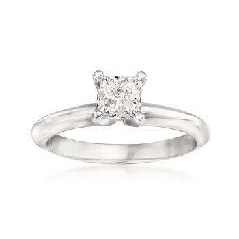 .71ct Certified Princess-Cut Diamond Engagement Ring in Gold