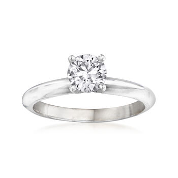 .71ct Certified Diamond Solitaire Engagement Ring in 14kt White Gold