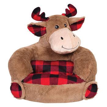 http://www.ross-simons.com - Children's Plush Buffalo Check Moose Chair