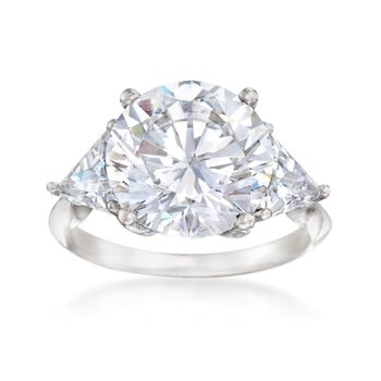 http://www.ross-simons.com - 7.50 ct. t.w. CZ Ring in Sterling Silver