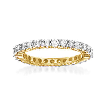 http://www.ross-simons.com - 1.50 ct. t.w. Diamond Eternity Band in 14kt Yellow Gold