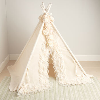http://www.ross-simons.com - Baby Bianca Lace Teepee