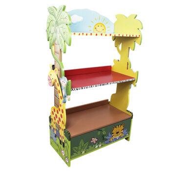 http://www.ross-simons.com - Child's Sunny Safari Wooden Bookshelf