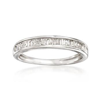 http://www.ross-simons.com - .35 ct. t.w. Baguette Diamond Ring in Sterling Silver