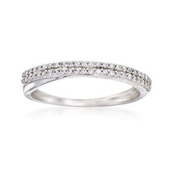 http://www.ross-simons.com - .20 ct. t.w. Diamond Wedding Band in 14kt White Gold