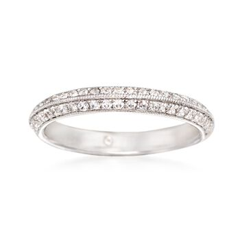 http://www.ross-simons.com - Gabriel Designs .36 ct. t.w. Diamond Wedding Ring in 14kt White Gold