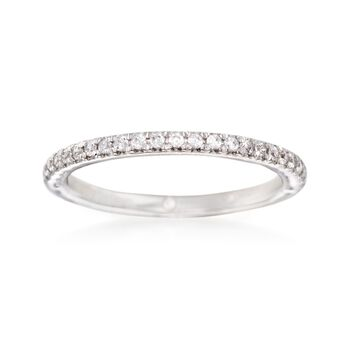 http://www.ross-simons.com - Gabriel Designs .20 ct. t.w. Diamond Wedding Ring in 14kt White Gold