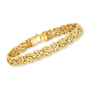 http://www.ross-simons.com - 14kt Yellow Gold Byzantine Bracelet