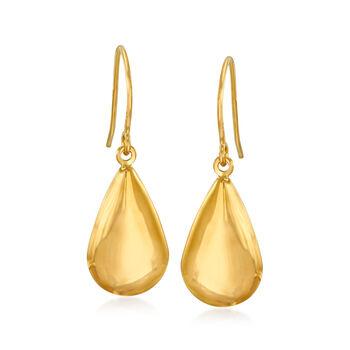 http://www.ross-simons.com - 14kt Yellow Gold Teardrop Earrings