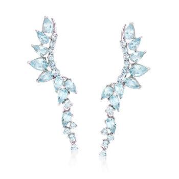 http://www.ross-simons.com - 4.60 ct. t.w. Sky Blue Topaz Earrings in Sterling Silver