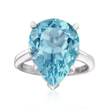 http://www.ross-simons.com - 13.00 Carat Blue Topaz Ring in Sterling Silver
