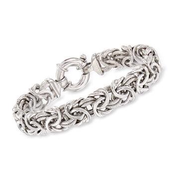 http://www.ross-simons.com - Italian Sterling Silver Byzantine Bracelet