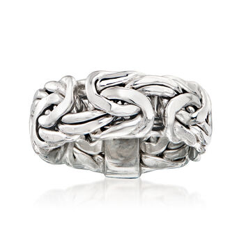http://www.ross-simons.com - Sterling Silver Wide Byzantine Ring