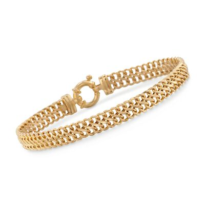 14kt Yellow Gold Fancy Link Bracelet, , default