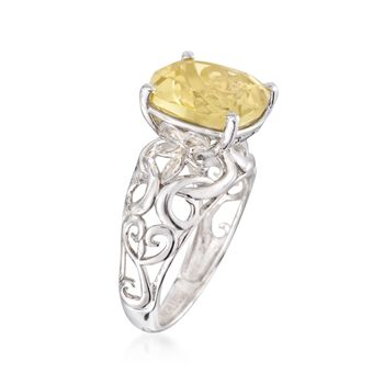 5.50 ct. t.w. Lemon Quartz Ring in Sterling Silver, , default